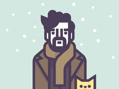 Inside Llewyn Davis par Richard Perez. Plus de personnages des Coen par Perez sur http://coencast.tumblr.com/