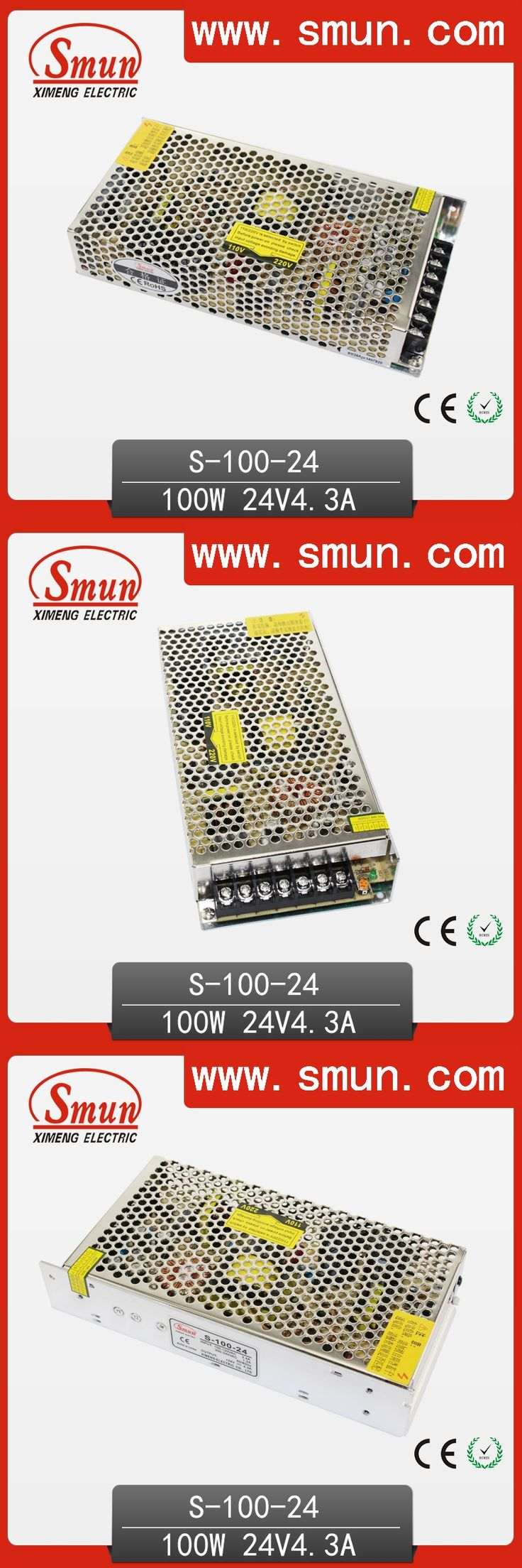 100W 220VAC-24VDC 4.5A  Switched Mode Power Supply SMPS For LED