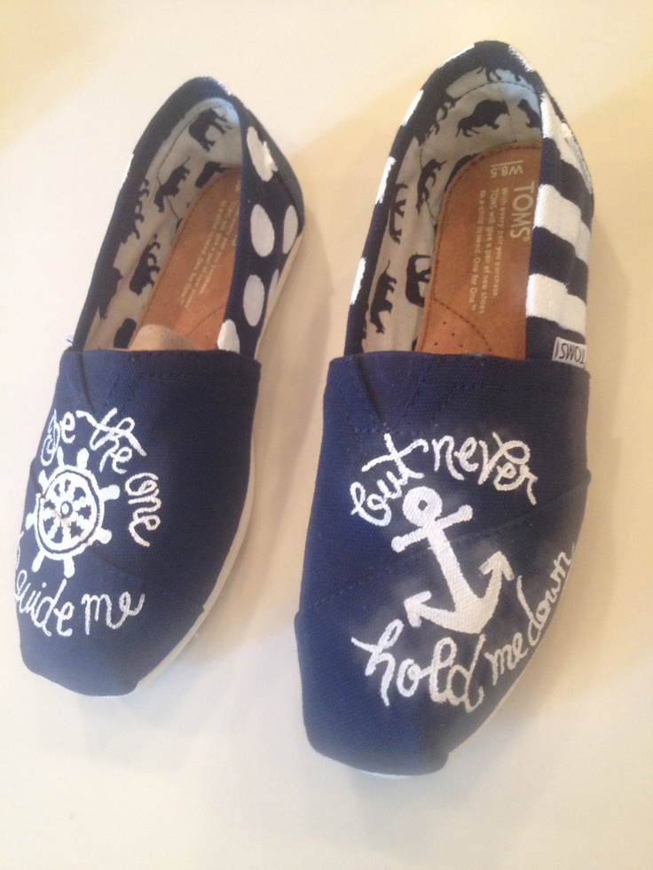 Navy Anchor TOMS.   via Etsy.  love these!!!