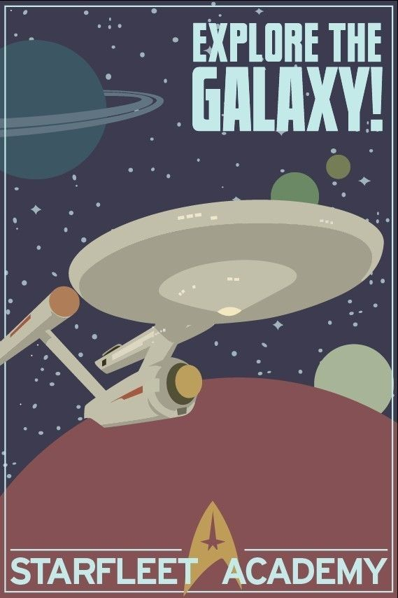 Explore the galaxy - Star Trek Print. $20.00, via Etsy.