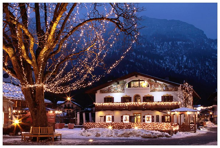 Christmas lights in Garmisch...