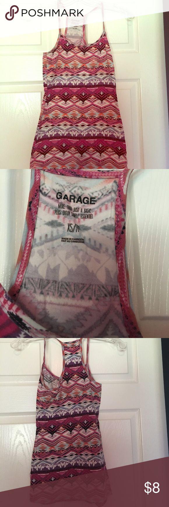 Aztec print cami/tank Cute cami. Good condition Garage Tops Camisoles