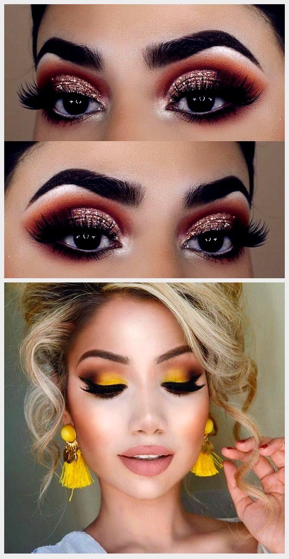 ideas simples de maquillaje de ojos con purpurina in 2020