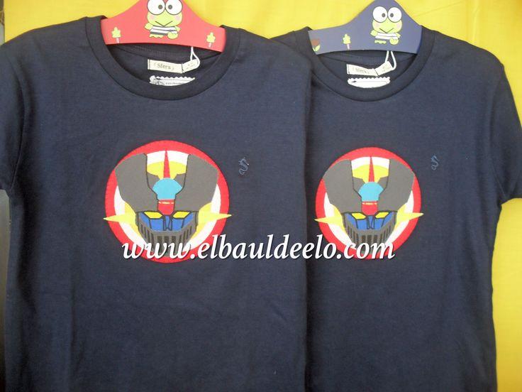 www.elbauldeelo.com aplicación camiseta patchwork Mazinger Z