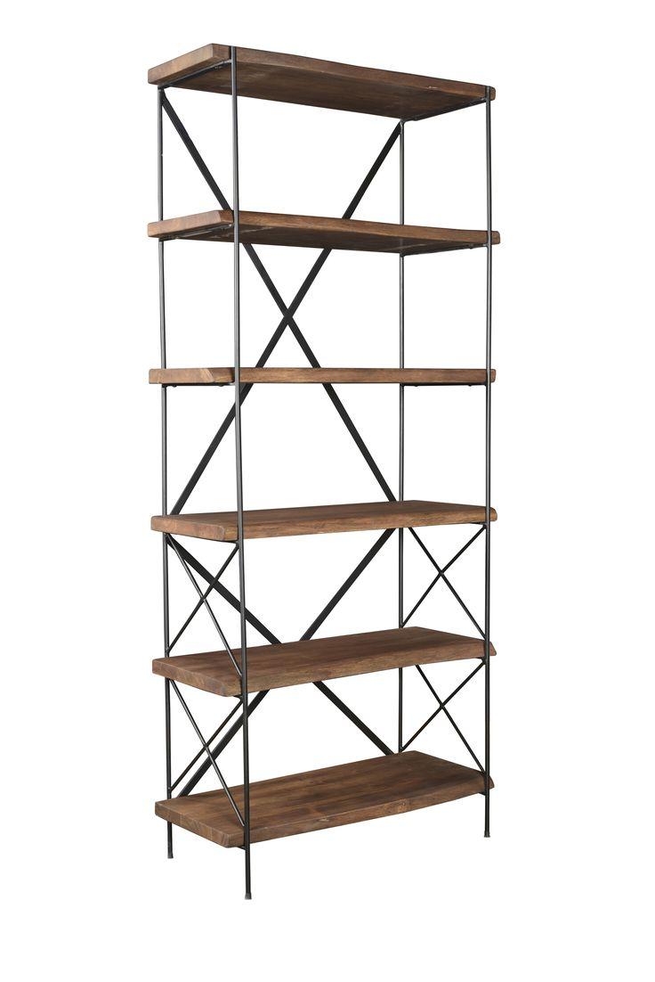 """Contempo Bookcase Dimensions: WDH"""": 33 x 78 x 115"""