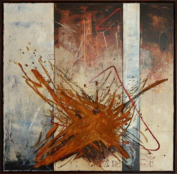POLČAS ROZPADU, 100x100 cm, mixed media / DISINTEGRATION
