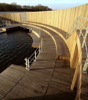 "The Danish ""sea bath"" spirals in a way that shields bathers from the wind. (Ole Haupt)"
