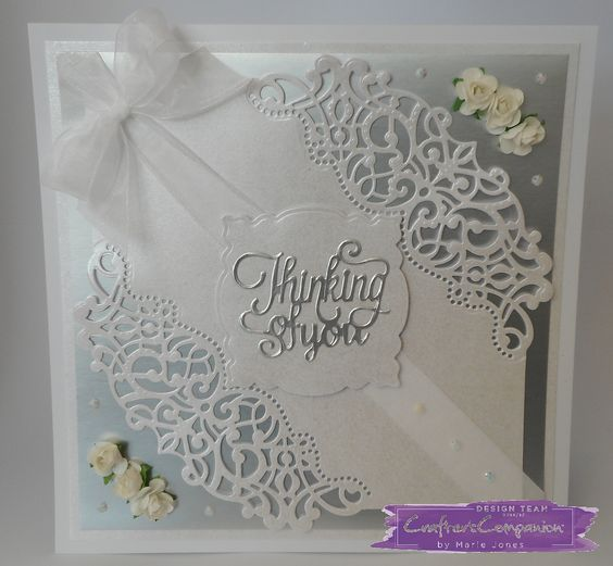 8 x 8 Card made using Crafter's Companion Die'sire Decorative Create-a-Card die - Sophia. Designed by Marie Jones. #crafterscompanion