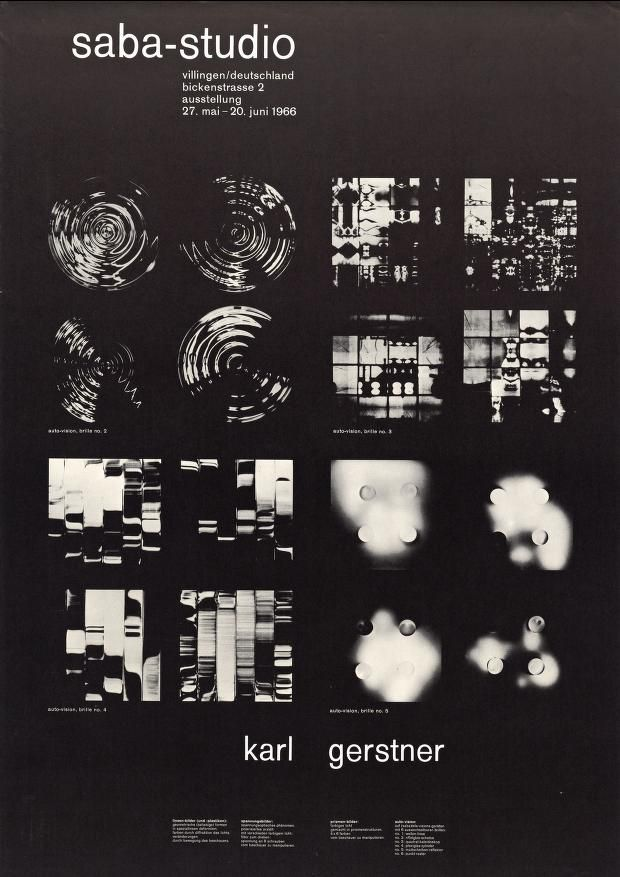 graphics thisisgrey likes         — calmack:   Karl Gerstner — Saba-Studio (1966)
