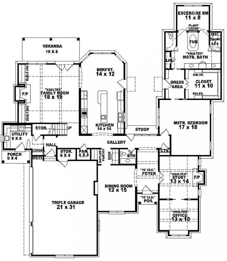 U Shaped Small House Plans | Two Bedroom House Plans For Small Land: Two