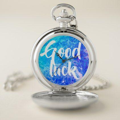 Good Luck Blue Tie Dye Pocket Watch  $33.95  by KiwiFur  - cyo customize personalize diy idea