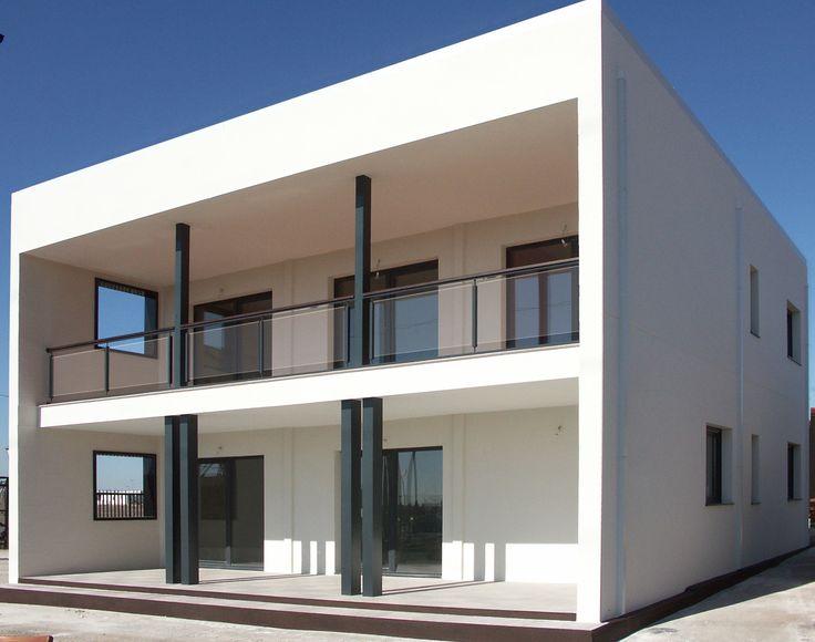 Casa prefabricada de acero y hormigon cubica estilo - Casas prefabricada de hormigon ...