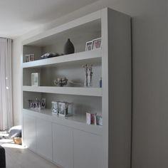 kastenwand woonkamer op maat - Google zoeken