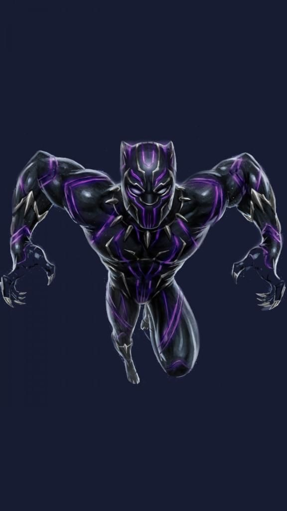 Cool Iphone Wallpapers Iphone7 Iphone8 Black Panther Marvel