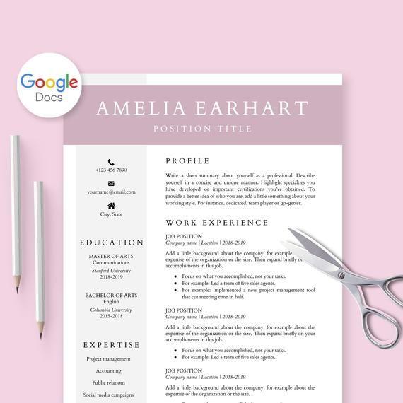 Resume Template For Google Docs Cv Template Google Doc Google Docs Resume Cover Letter Profes