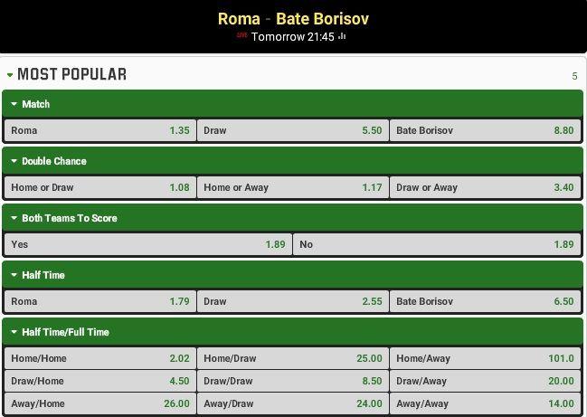 Predictii  pariuri  Roma – Bate Borisov ( 09.15.2015) - http://biletu-zilei.com/ponturi-fotbal-liga-campionilor/predictii-pariuri-roma-bate-borisov-09-15-2015/