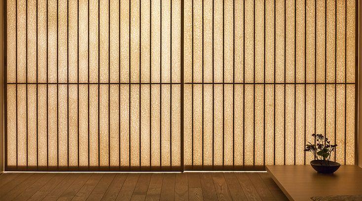 Shoji, painéis tradicionais japoneses de madeira e papel de arroz
