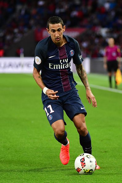 Angel Di Maria of PSG during the Ligue 1 match between Paris Saint Germain PSG and Fc Metz at Parc des Princes on August 21 2016 in Paris France
