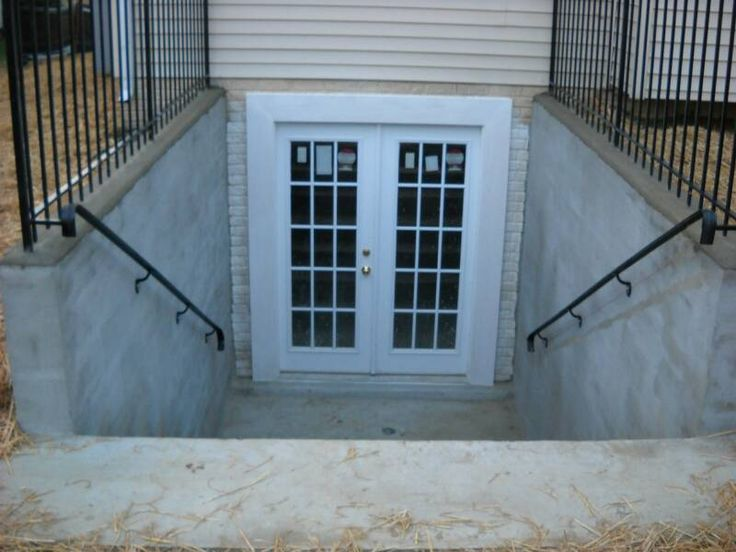 24 best images about basement entrance on pinterest for Adding exterior basement entry