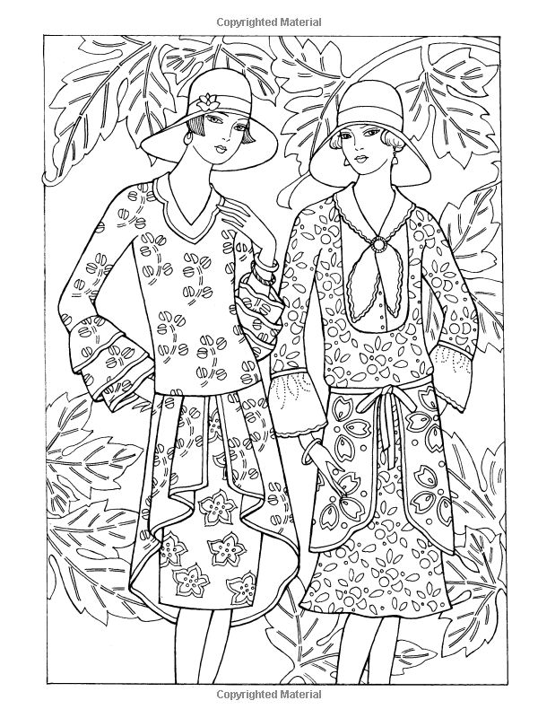 Dover Publications On Amazon Creative Haven Art Deco Fashions Coloring Book Ming Ju