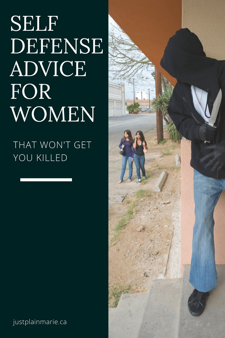 Stupid self-defense advice will get you killed. Don't be a victim. #self #defense #women via @justplainmarie
