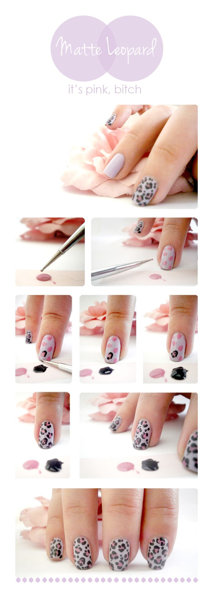 I wouldn't necessarily do this with matte nail polish, but I'll do it anyway !