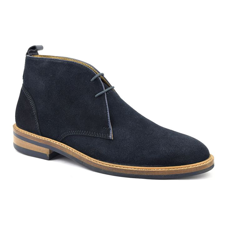 Find contemporary mens navy suede desert boots on a solid rubber sole. High design, high quality navy suede desert boots. Iconic mod style. Free delivery