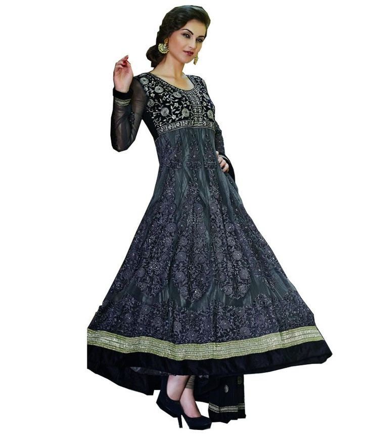 Loved it: Ajay And Vijay Gray Embroidered Net Semi Stitched Anarkali Salwar Suit, http://www.snapdeal.com/product/ajay-and-vijay-gray-embroidered/401854708
