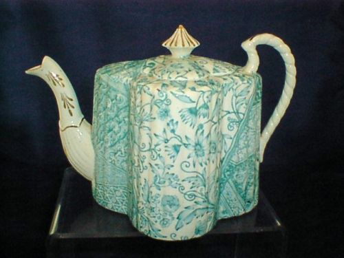 Stunning Shelley Foley Wileman Teapot  BLUE FLORAL AESTHETIC DESIG Must SEE | eBay