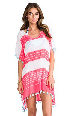 Seafolly Cable Kaftan Cover up in Red Hot | REVOLVE