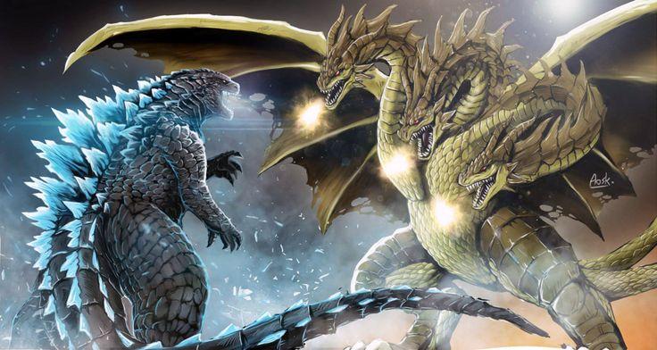 Godzilla vs King Ghidorah by Aosk26 on deviantART