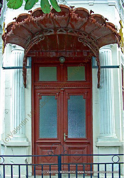 Little Paris style doorway, Targoviste, southern Romania