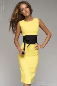 """Оливковое платье в стиле """"милитари"""" c короткими рукавами и брошью купить в интернет-магазине 1001DRESS"""