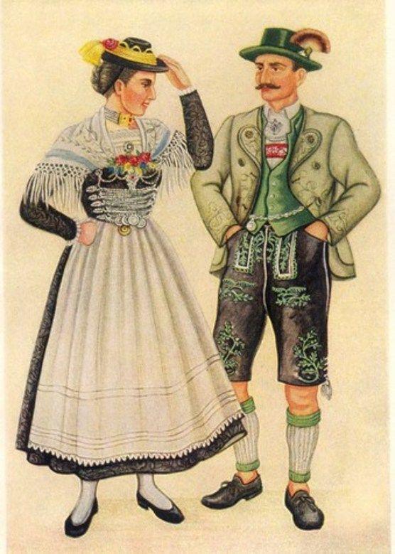 картинка немцы в национальных костюмах человек говорит
