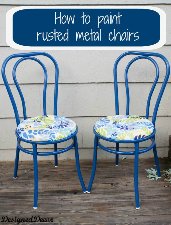 25 best ideas about painting metal chairs on pinterest for Repurposed metal furniture