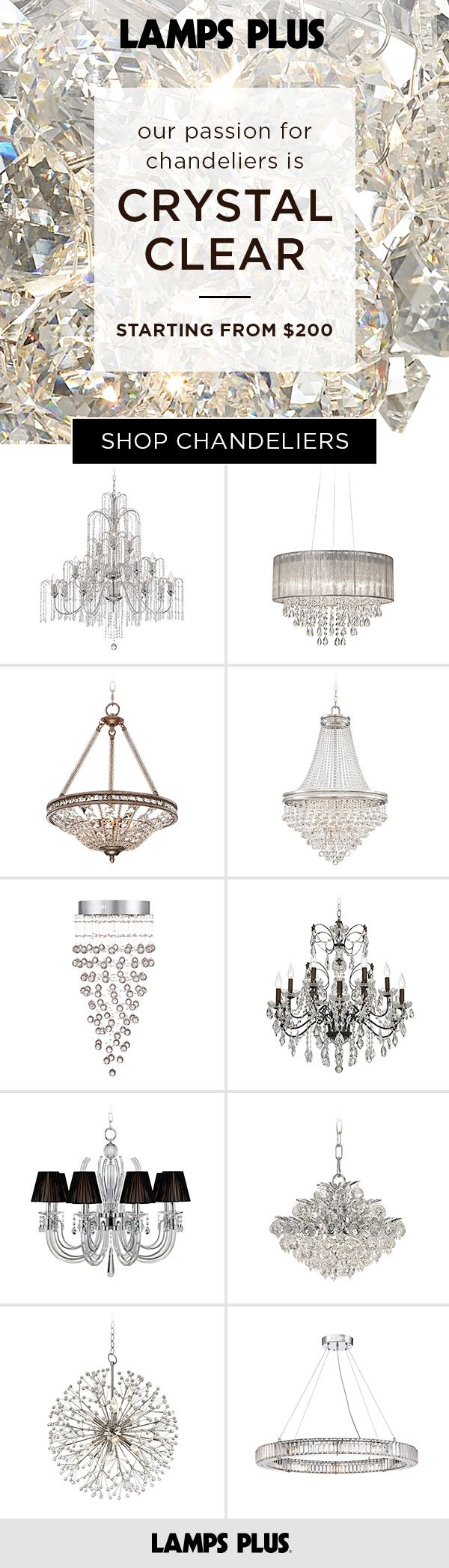 859 best crystal chandeliers images on pinterest raked ceiling chandelier lamps crystal chandeliers crystal lamps arubaitofo Choice Image