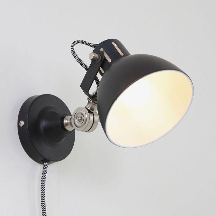 Die besten 25+ Industrielle wandleuchten Ideen auf Pinterest - badezimmerlampen mit steckdose