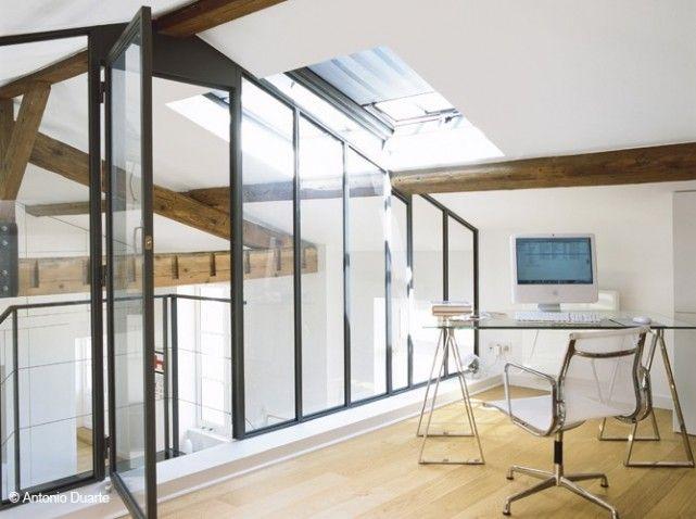 Les 25 meilleures id es concernant mezzanine sur pinterest chambre en mezza - Fermeture mezzanine verre ...