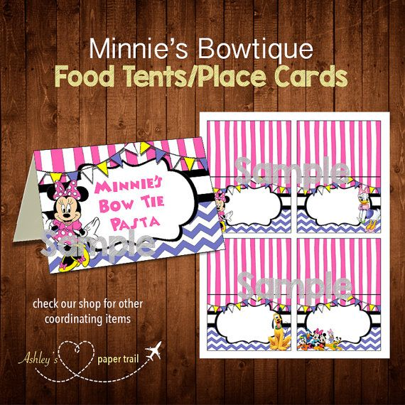 MINNIEu0027S BOWTIQUE Food Tents and/or Place by AshleysPaperTrail  sc 1 st  Pinterest & 16 best Minnie Bowtique Party images on Pinterest | Birthdays ...