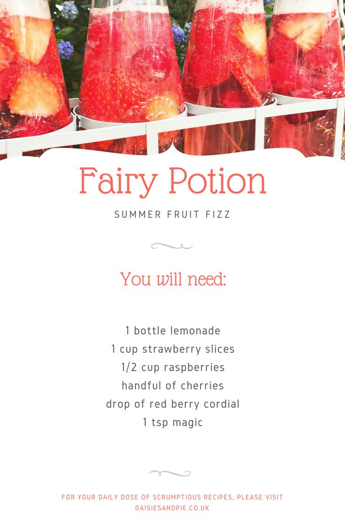 How to make fairy potion drinks, strawberry fizz recipe, kids summer activities, fairy party ideas