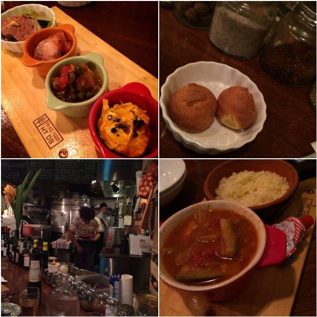 久しぶりに鎌倉で美味しいレストラン見つけました〜 地下にあって、20席と落ち着きます〜 初回なのに、お料理の材料と作り方を教えてくださるのは、 なかなか珍しいですね〜 ありがたいです!   ・グリエールのシュー  オススメ4品 ・パテドカンパーニュ ・スモークサーモンと、紫キャベツのサワー ・イイダコのニース風マリネ 塩コショウ、タイム ・かぼちゃとマスカルポーネのムース はちみつのせ  ・仔羊とトマトの煮込み   クスクス添え - 96件のもぐもぐ - 鎌倉若宮通り                                           フランス田舎料理                             「ラパッション」 by 志野