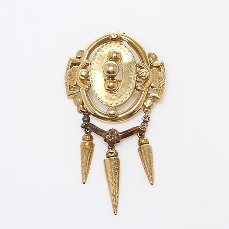 Antique 18k gold brooch / pendant, #Finland, 1881.