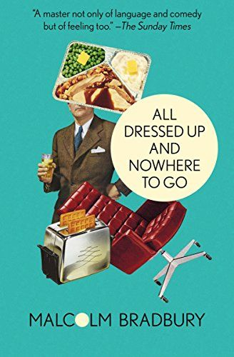 All Dressed Up and Nowhere to Go by Malcolm Bradbury.      A humorous look at Britain's transition to midcentury modernity.    And so, to confront this curious moment in British history, Bradbury turned to the sharpest tool in his arsenal: humor. In All Dressed Up and Nowhere to Go, he writes of a country balancing precariously on the boundary of two worlds, with the wry wit and keenly observant eye that have made him one of the twentieth century's greatest satirists.