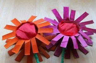 kwiaty z rolek « Zabawy dla dzieci, rozwój dziecka