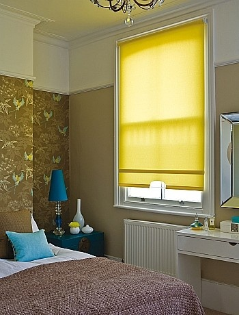 Love the Yellow!  Small bedroom ideas - SweetyDesign. Home design, hotel design, celebrity homes