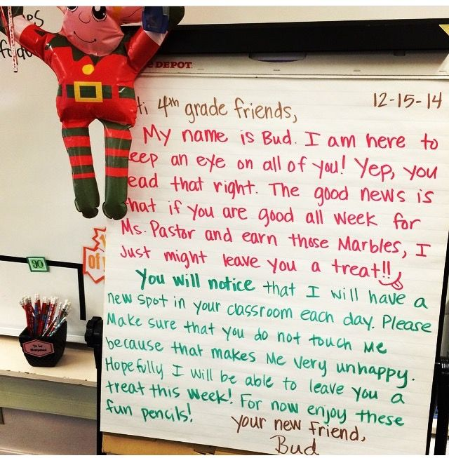 50 best Elf ideas for classroom images on Pinterest Christmas - letter of introduction