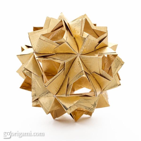 #Little #Isalnd #Kusudama -- The #amazing by its simple #elegance #origami #design by #MariyaSinayskay ( @Maria Canavello Mrasek Sinayskaya  )   more info and #tutorial on website:: goorigami.com