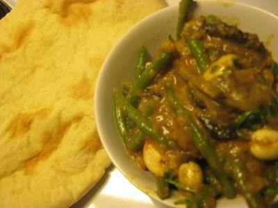 Salt och Sött: Auberginecurry med gröna bönor