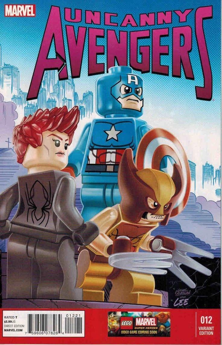 Natalia ROMANOVA (BLACK WIDOW), James HOWLETT (WOLVERINE) and Steve ROGERS (CAPTAIN AMERICA)   Variant Cover of Uncanny AVENGERS   Lego Marvel SUPER HEROES