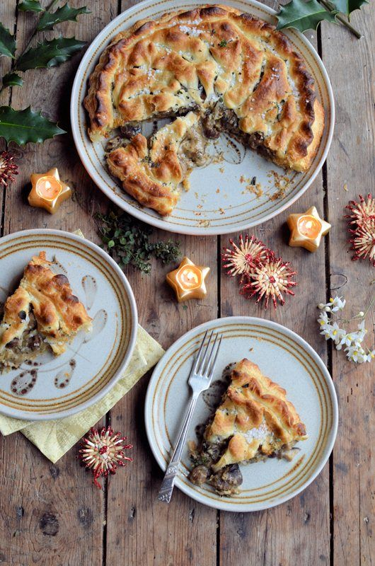 Vegan Mushroom, Chestnut and Thyme Pithivier by Karen Burns-Booth